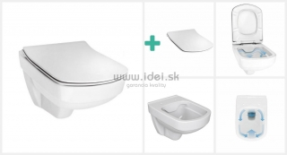 Vilan Rimless WC misa závesná so Slim sedátkom Softclose