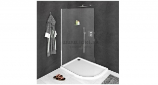Polysan MODULAR SHOWER zaoblená Walk-in zástena 80-110 cm